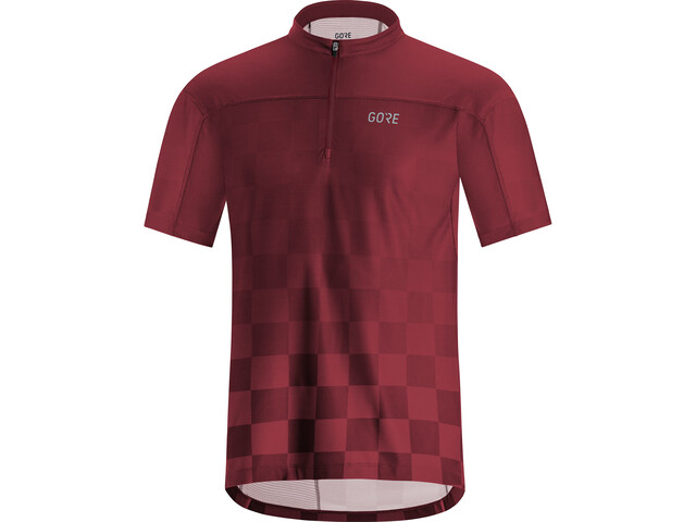 GORE WEAR C3 Chess Zip Jersey Men chestnut red